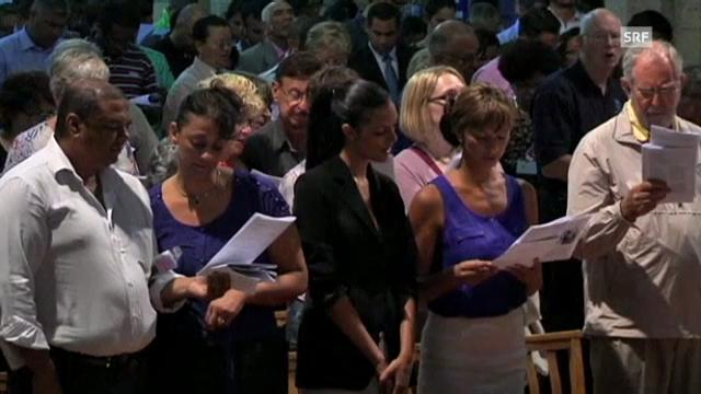 Gebete für Nelson Mandela (Tagesschau, 25.12.2012)