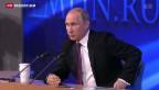 Video «Putin relativiert Russlands Probleme» abspielen