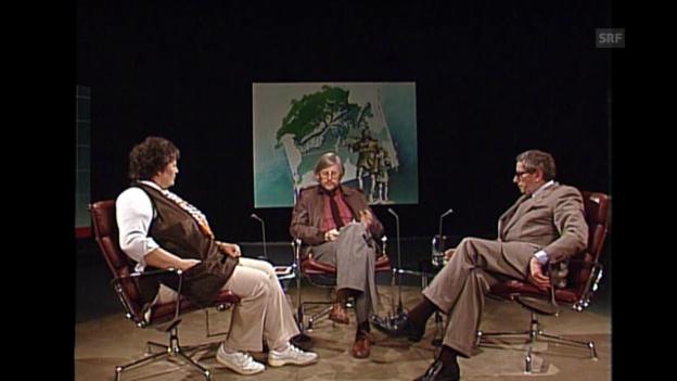 Video «Hanni Huser und Hugo Lötscher über Heimat (Zeitgeist, 11.4.1984)» abspielen