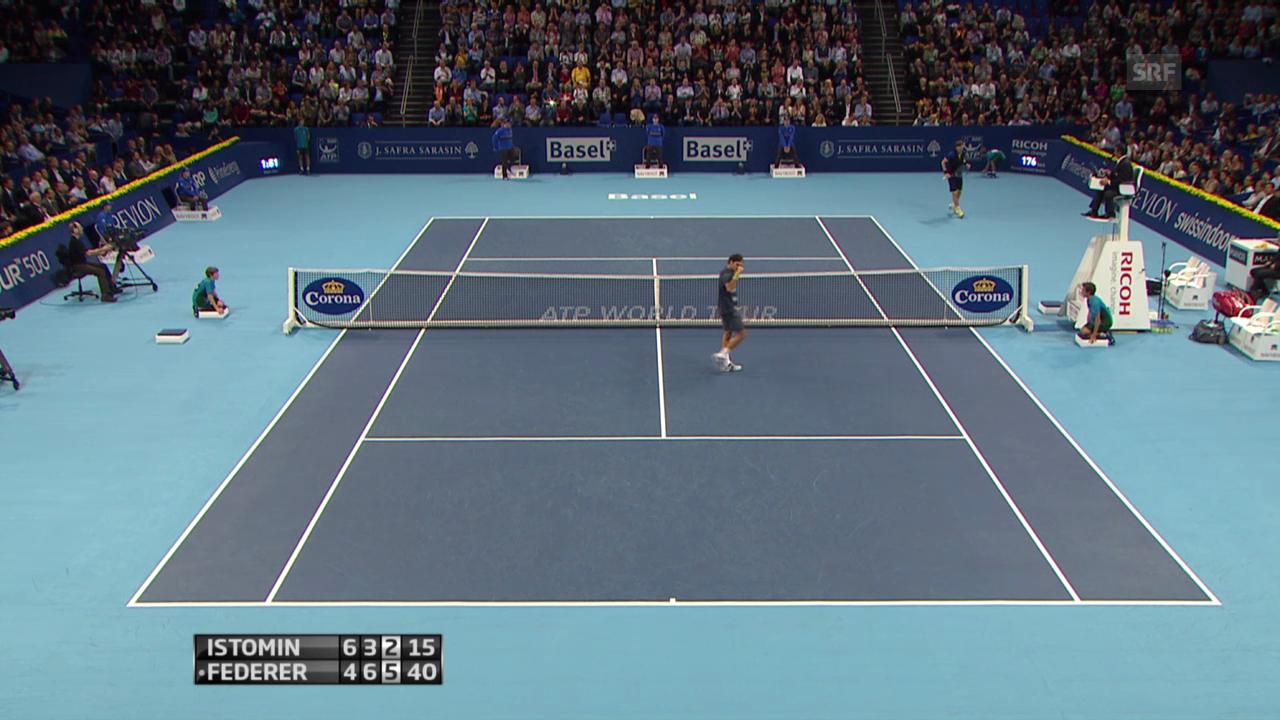 Highlights Federer - Istomin («sportlive»)