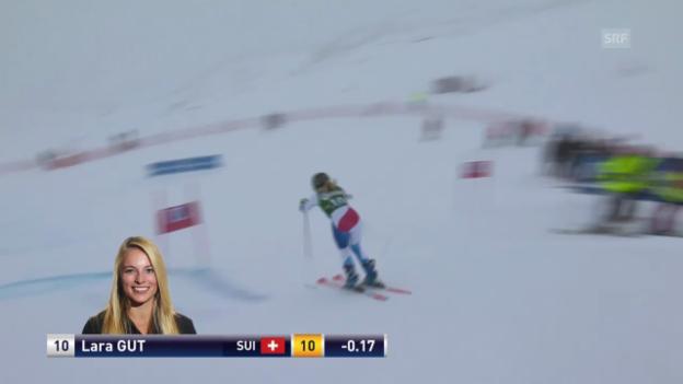 Video «Ski Alpin: Weltcup Kühtai, Riesenslalom, 2. Lauf Lara Gut» abspielen