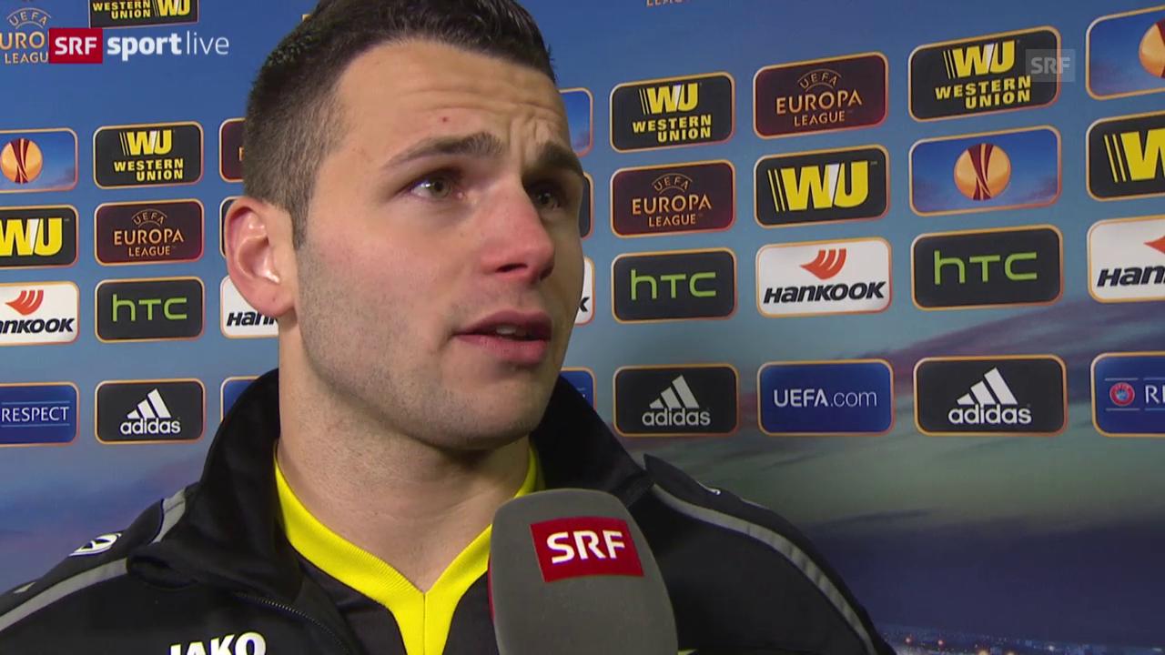 Fussball: Europa League, Interview Renato Steffen