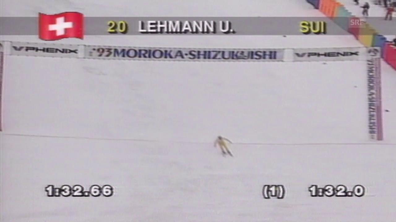 Ski alpin: Urs Lehmann wird 1993 Weltmeister