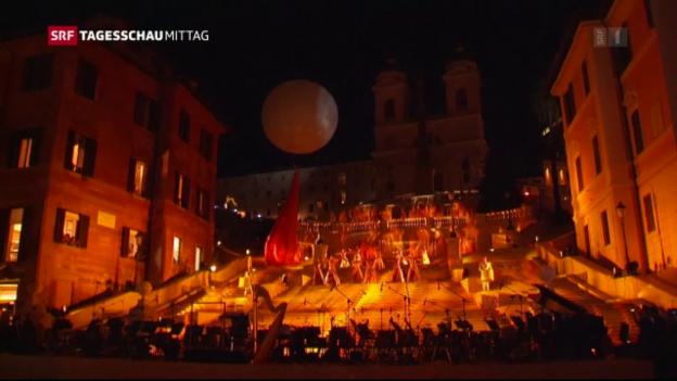 Video «Spanische Treppe in Rom erstrahlt in neuem Glanz» abspielen