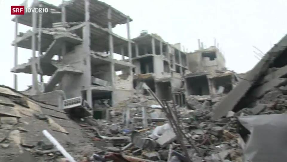 Zerstörtes Kobane