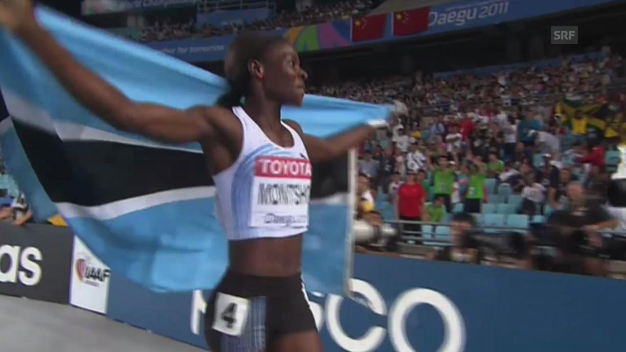 2011: Montsho holt WM-Gold