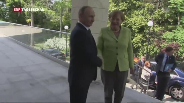 Video «Merkel trifft Putin» abspielen