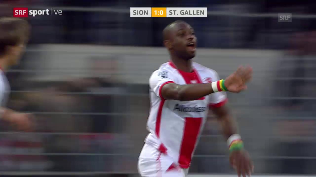 Fussball: Super League, Sion - St. Gallen