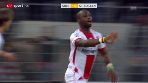 Video «Fussball: Super League, Sion - St. Gallen» abspielen