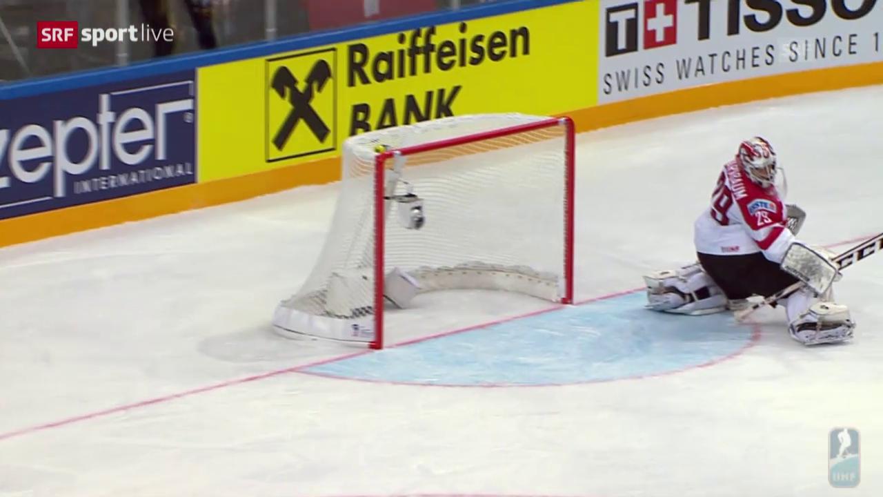 Eishockey: WM, Gruppenspiel, Schweiz-Österreich, 3:2 Bieber