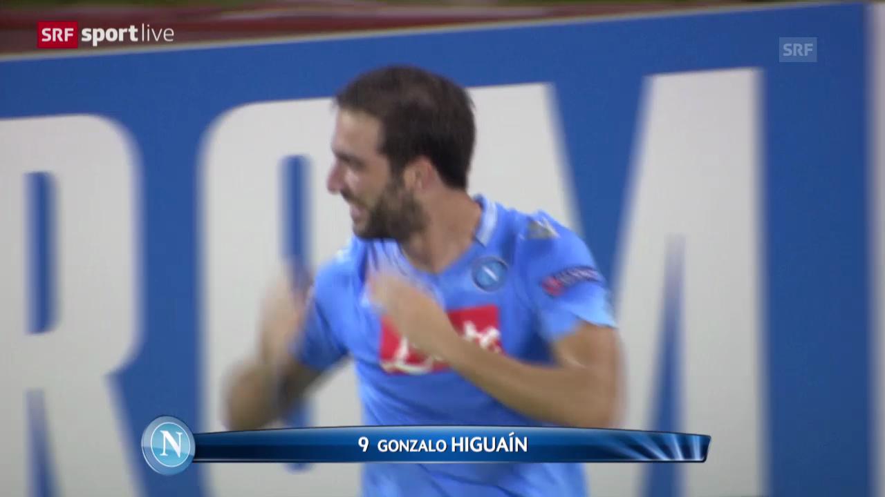 Wie Napolis Stadionsprecher ein Higuain-Tor verkündet