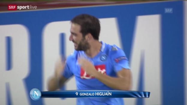 Video «Wie Napolis Stadionsprecher ein Higuain-Tor verkündet» abspielen