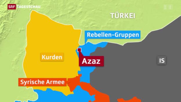 Video «Türkische Offensive gegen Kurden» abspielen
