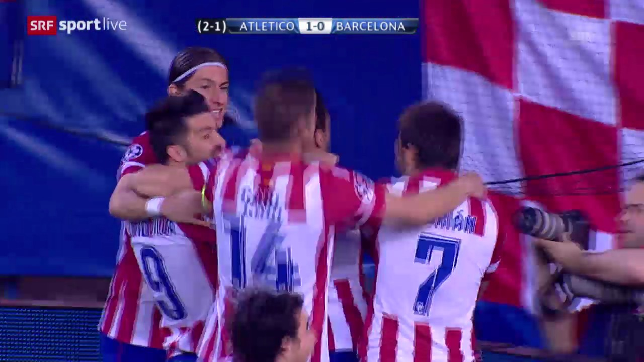 Fussball: Champions League, Viertelfinal-Rückspiel, Atletico Madrid - Barcelona