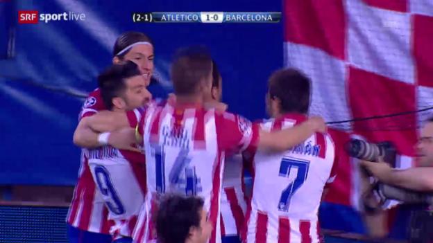 Video «Fussball: Champions League, Viertelfinal-Rückspiel, Atletico Madrid - Barcelona» abspielen
