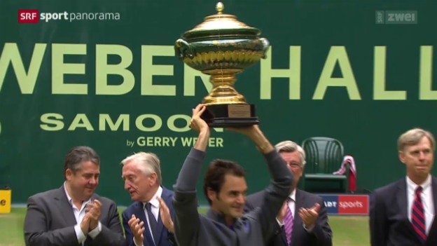 Video «Tennis: ATP-Turnier in Halle, Final» abspielen