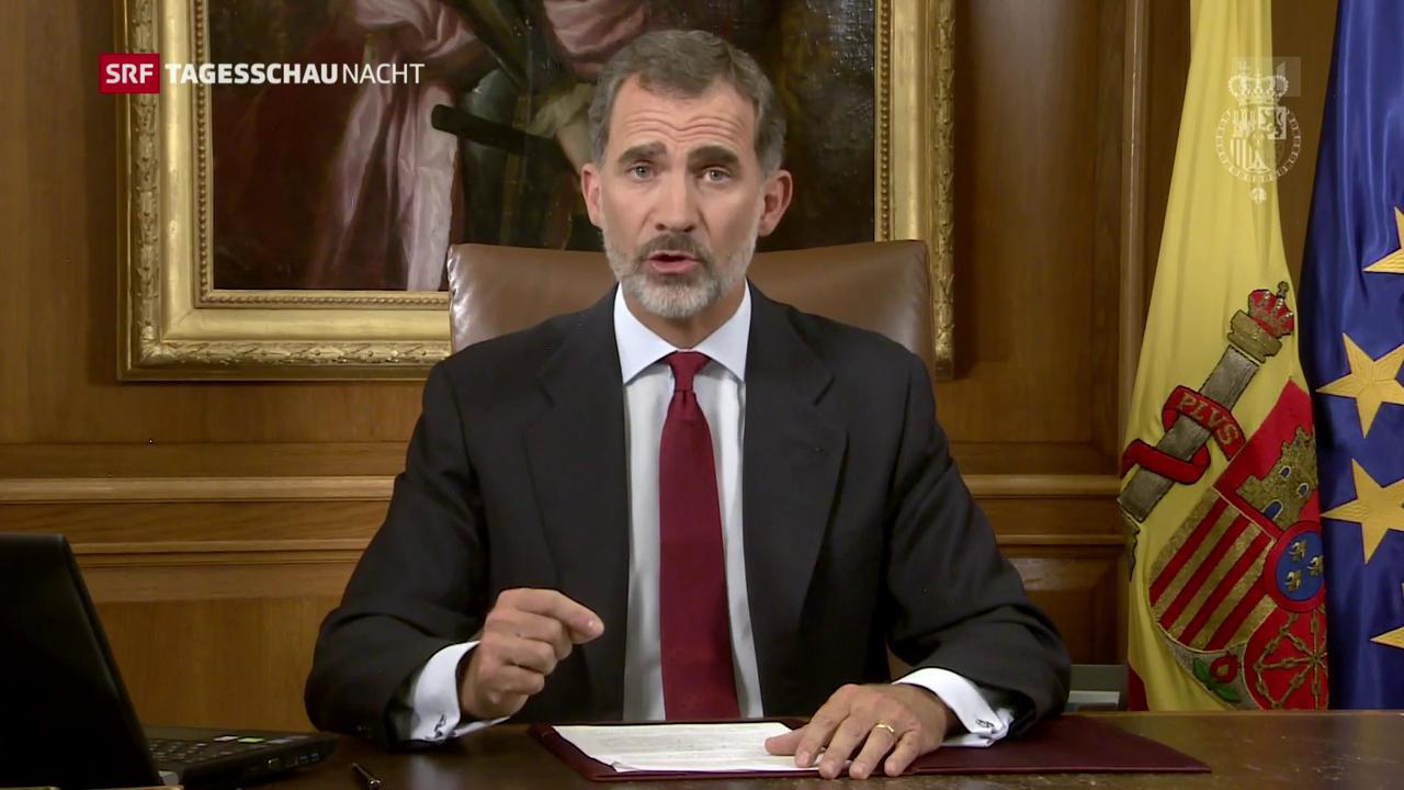 König Felipe stärkt Premier Rajoy den Rücken