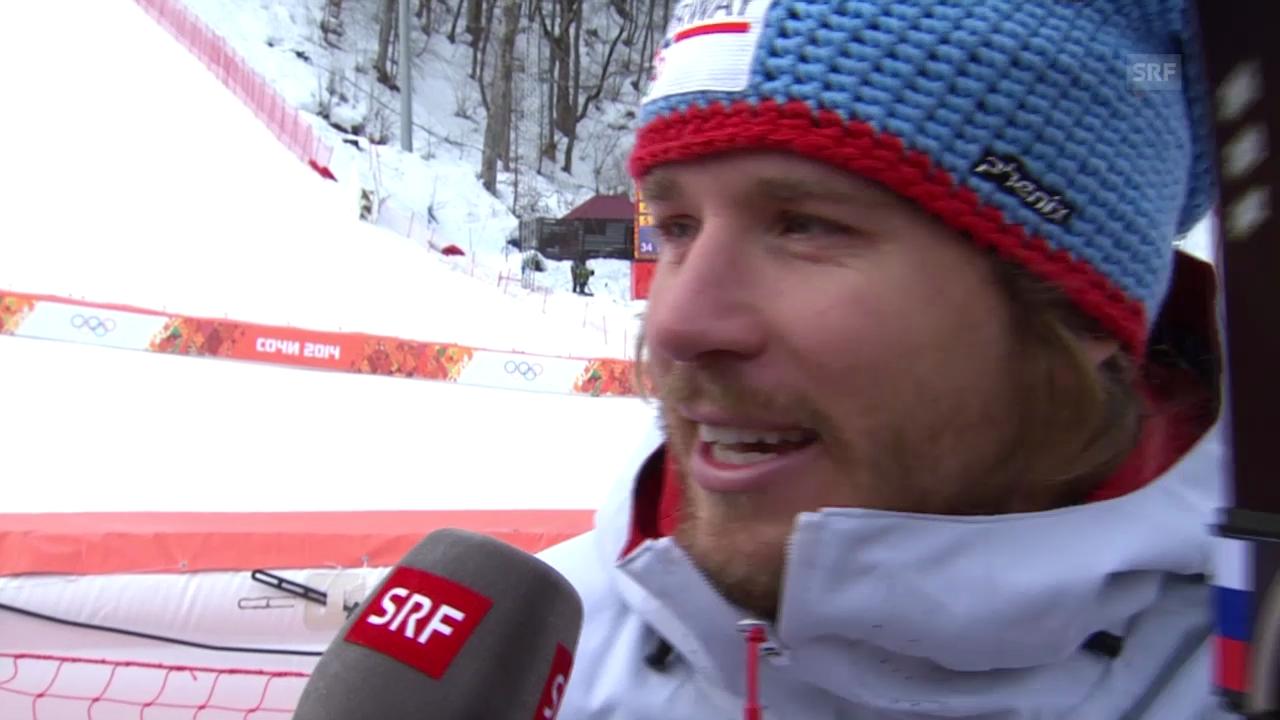 Sotschi: Ski, Abfahrt Männer, Interview Jansrud