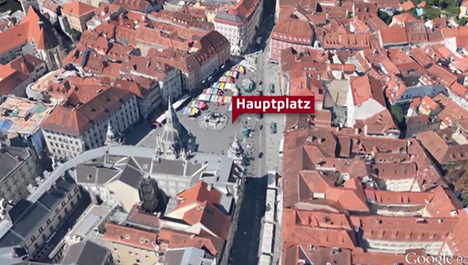 Google-Animation der Grazer Innenstadt