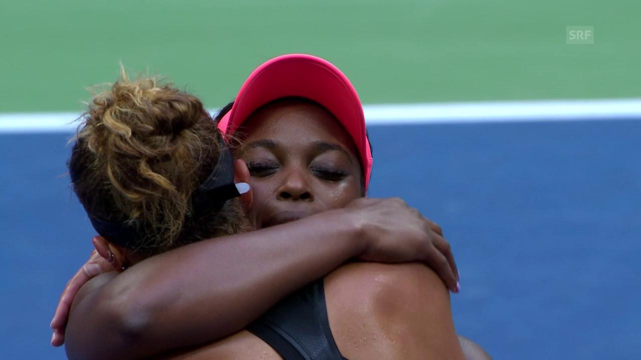 Stephens tröstet nach ihrem Sieg Verliererin Keys