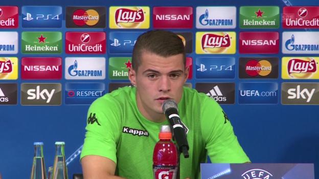 Video «Fussball: MK mit Granit Xhaka» abspielen