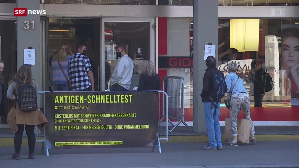 Schnelltest für nur 11 Franken in Bern