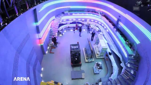 Video «Der Aufbau des «Arena»-Studios im Zeitraffer» abspielen