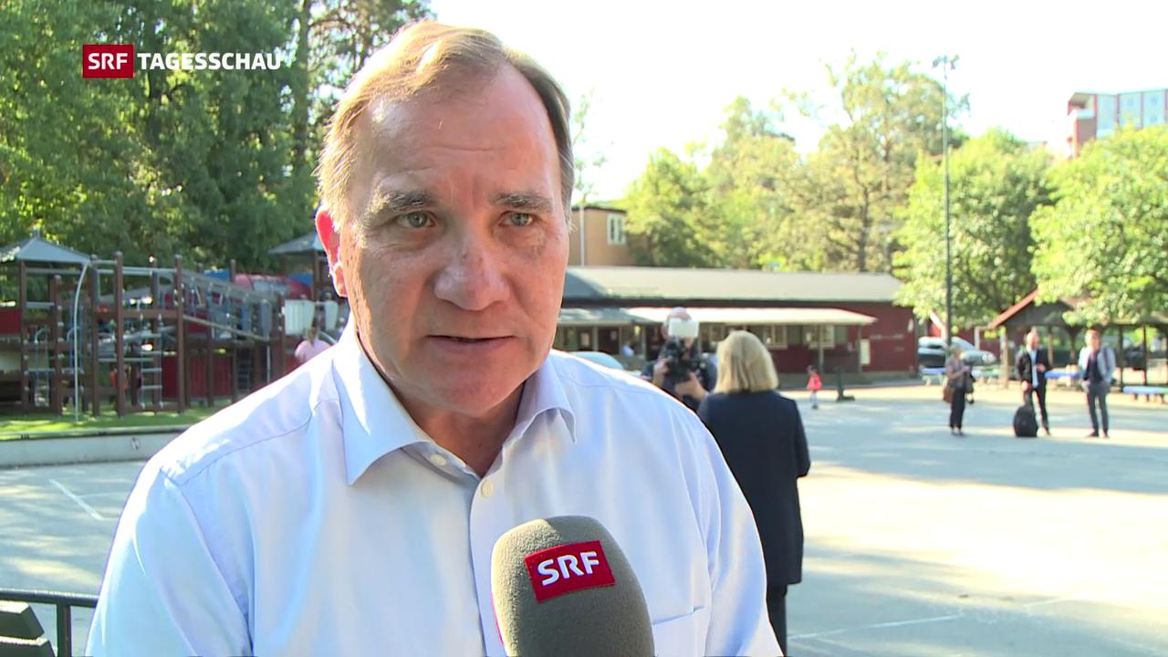 Prognosen zeigen Rechtsruck:Sozialdemokraten bei Wahl in Schweden vorn