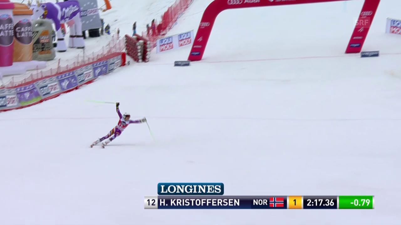 Ski: Riesenslalom Männer, Méribel, 2. Lauf Henrik Kristoffersen