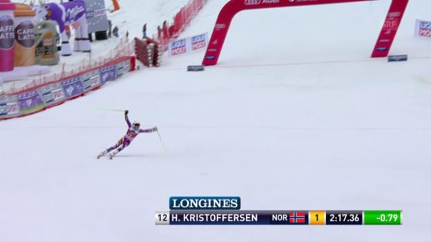 Video «Ski: Riesenslalom Männer, Méribel, 2. Lauf Henrik Kristoffersen» abspielen