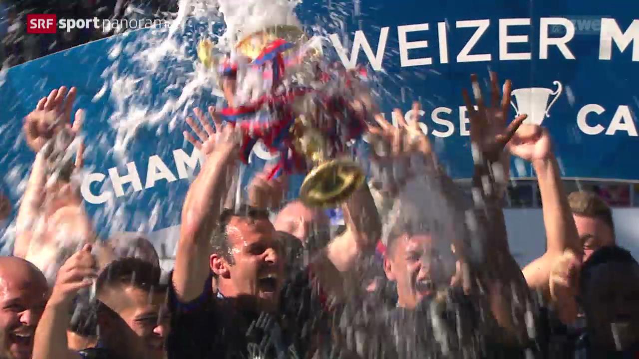 Fussball: Pokalübergabe und Stimmen aus Basel