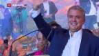 Video «Kolumbien wählt konservativen Präsidenten» abspielen