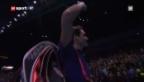 Video «World Tour Finals: Zusammenfassung Federer - Tipsarevic» abspielen
