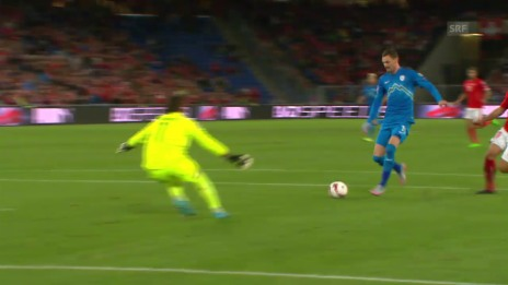 Video «Fussball: Schweiz - Slowenien, Tor Novakovic» abspielen