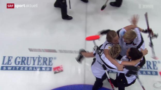 Video «Curling: EM-Final der Frauen, Schweiz - Russland» abspielen