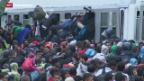 Video «Tausende Flüchtlinge suchen weiterhin den Weg nach Europa» abspielen
