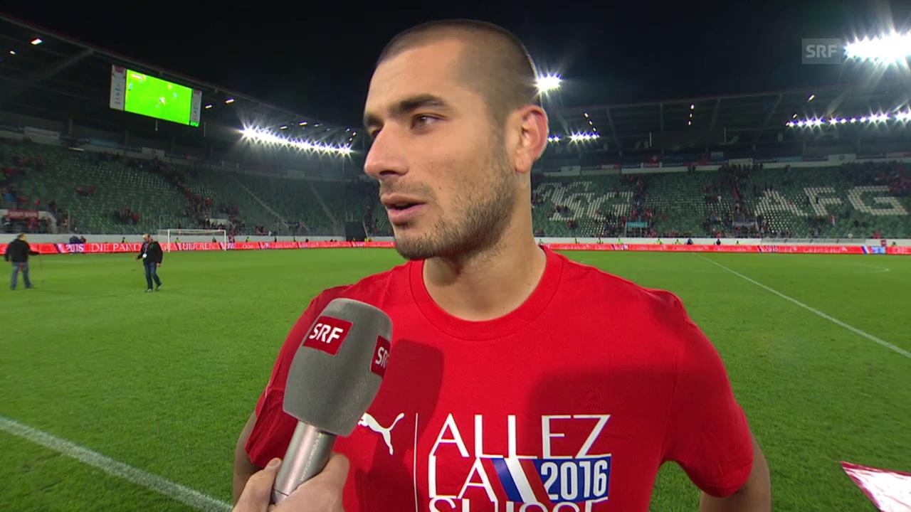 Fussball: EURO-Quali, Schweiz - San Marino, Interview Derdiyok