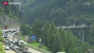 Video «Intensive Debatte um Gotthard-Tunnel» abspielen