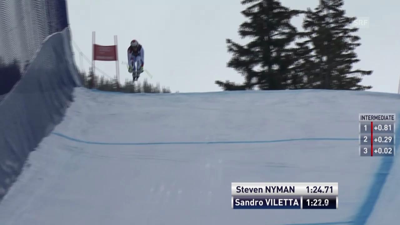 Ski: Abfahrt Beaver Creek, Fahrt von Sandro Viletta