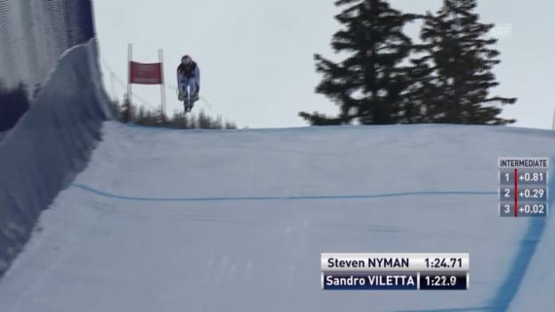 Video «Ski: Abfahrt Beaver Creek, Fahrt von Sandro Viletta» abspielen
