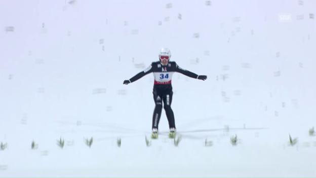 Video «Ammann springt nur 99 Meter weit» abspielen