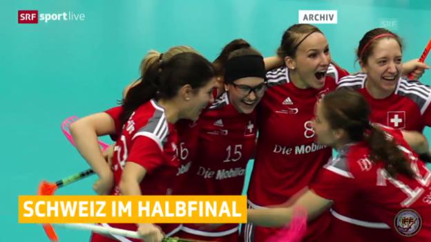 Video «Unihockey: Schweizer Frauen im Halbfinal» abspielen