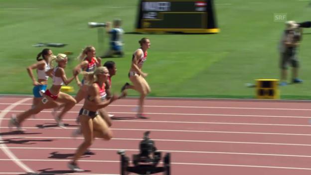 Video «Leichtathletik: WM 2015 in Peking, 100 m Hürden, Vorlauf mit Noemi Zbären» abspielen