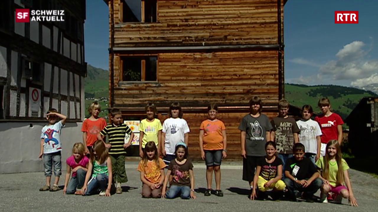 Schweiz Aktuell 19-08-2009: Emprim di da scola a Duin