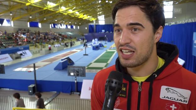 Video «Max Heinzer über das frühe Aus an der EM in Tiflis» abspielen