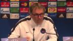 Video «PSG-Trainer Laurent Blanc vor dem CL-Duell mit Manchester City» abspielen