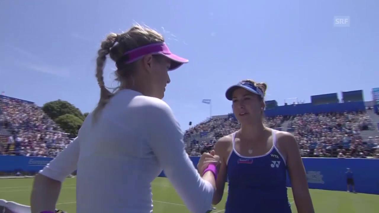 Tennis: WTA Eastbourne, Achtelfinal, Bouchard muss aufgeben