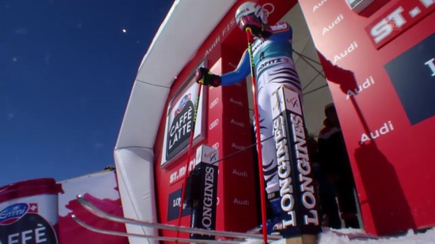 Video «Rebensburgs fantastischer 2. Lauf beim Riesenslalom in St. Moritz» abspielen