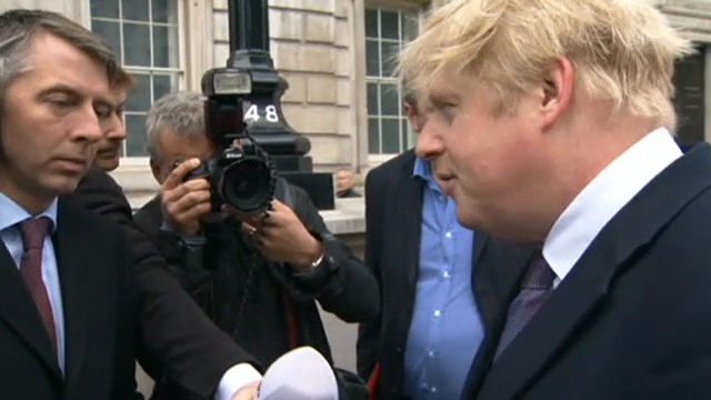Bürgermeister Boris Johnson zur Beilattacke (Originalton)