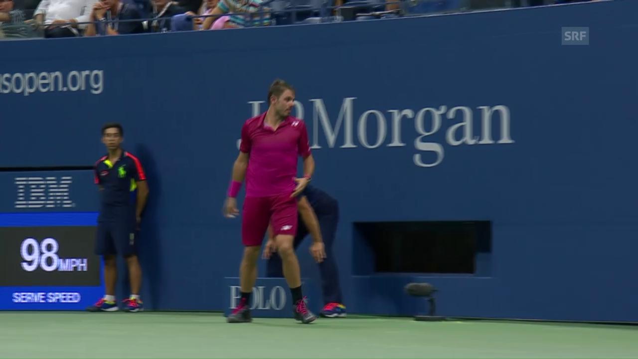 Wo ist mein Racket? Wawrinka und die Luftfeuchtigkeit